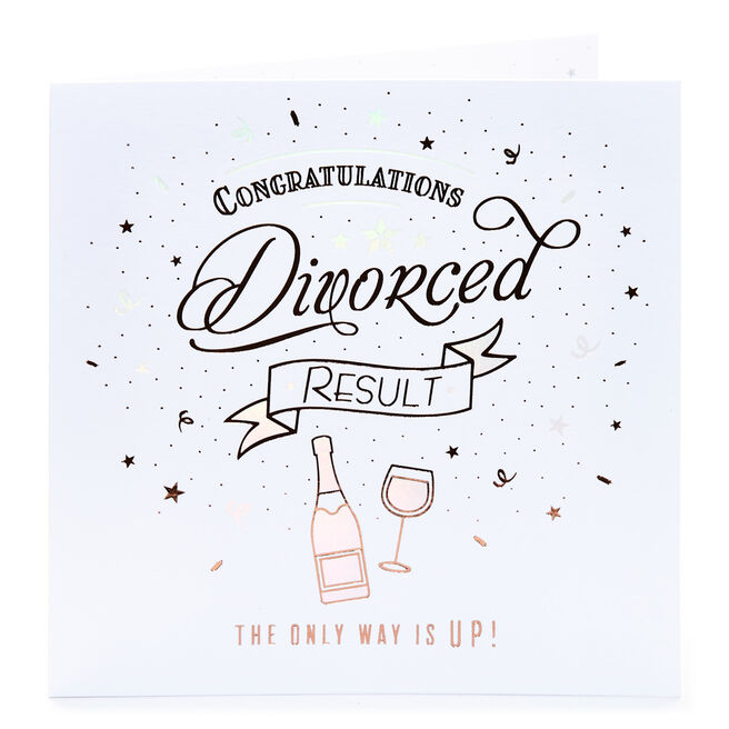 Divorce Card - The Only Way Is Up