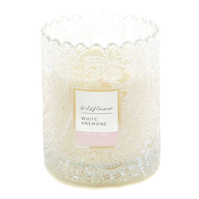 Wildflower White Anemone Scented Candle