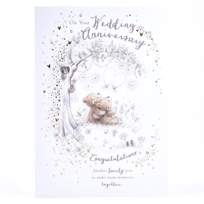 Anniversary Card - Bears Under Tree