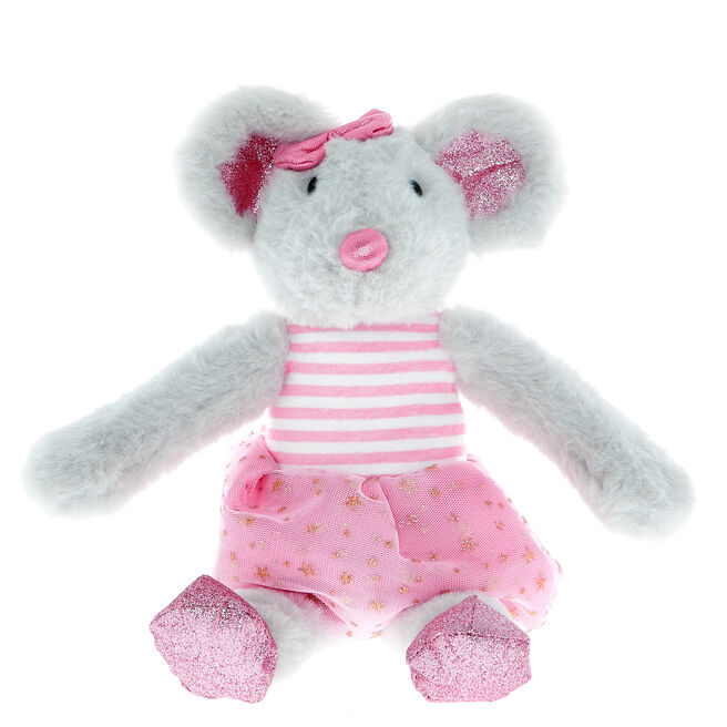 Mouse In A Dress Soft Toy