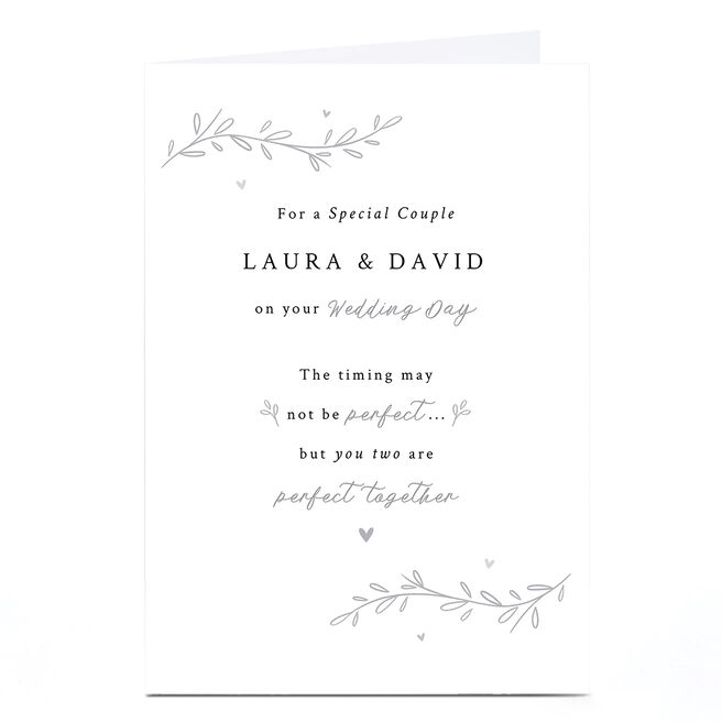Personalised Lockdown Wedding Card - Perfect Together