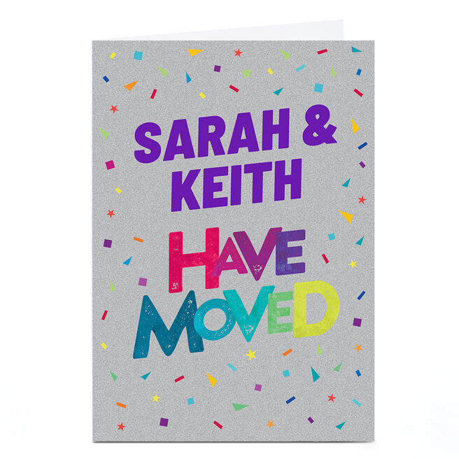 Personalised New Home Card - We've Moved