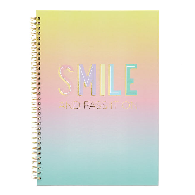 A4 Smile & Pass It On Positivity Notebook