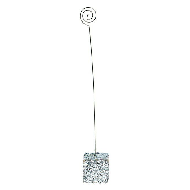 Silver Glittery Table Card Holder