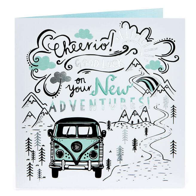 Platinum Collection Good Luck Card - New Adventures!