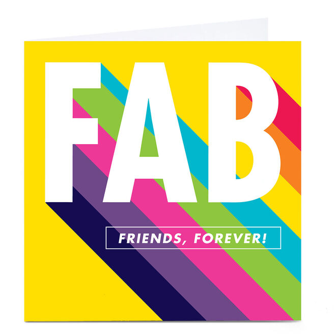 Personalised Hello Munki Card - Fab Friends Forever