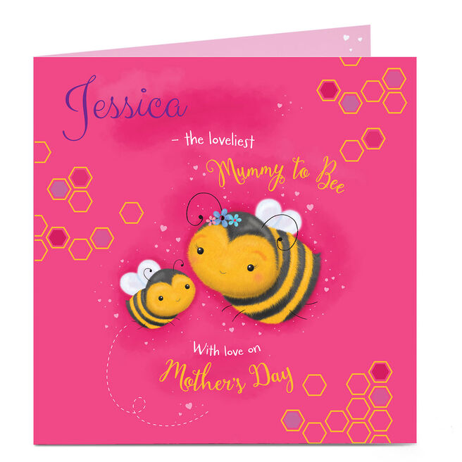 Personalised Mother's Day Card - Loveliest Mummy To Bee