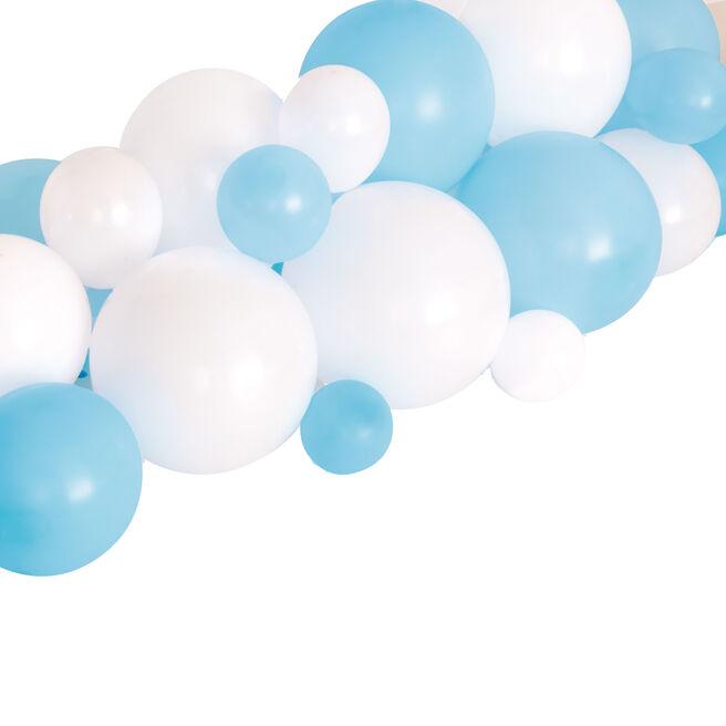 Blue & White Balloon Garland Table Runner Kit