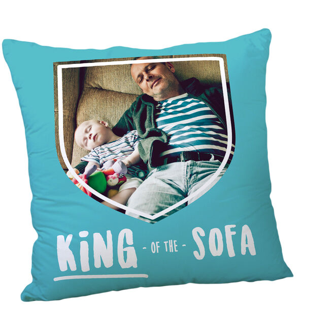 Personalised Father's Day Photo Cushion - King Of The Sofa