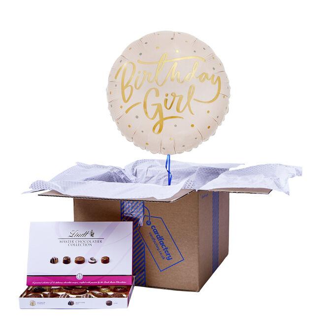 Pink & Gold Birthday Girl Balloon & Chocolate Box