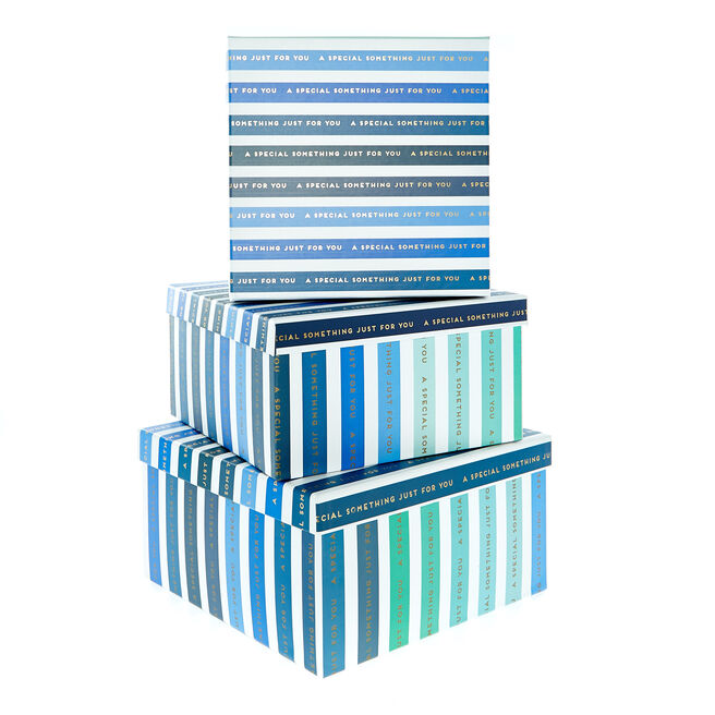 Blue Special Something Gift Boxes - Set Of 3