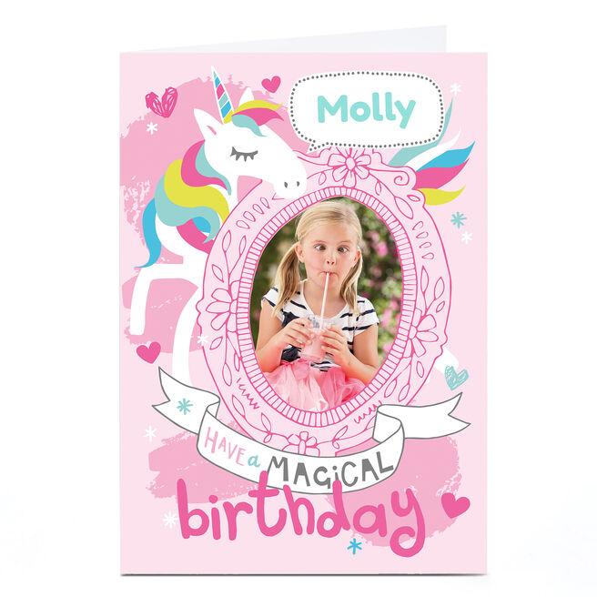 Personalised Bev Hopwood Birthday Card - Unicorn
