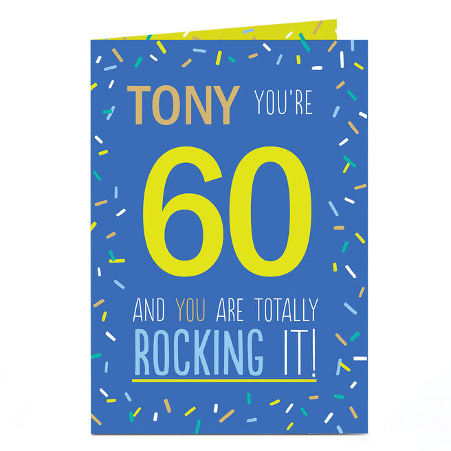 Personalised Any Age Birthday Card - You're Totally Rocking It