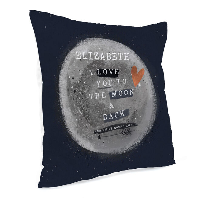 Personalised Cushion - To The Moon & Back