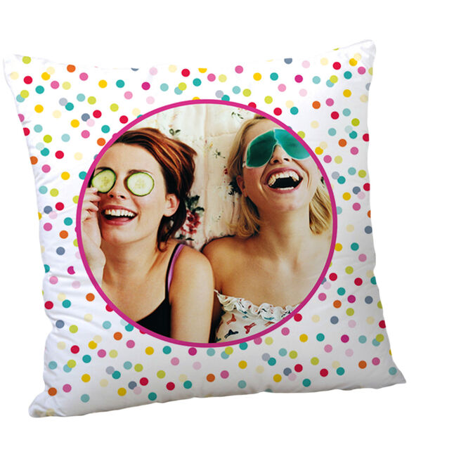 Multi Photo Cushion - Dots & Dots & Dots