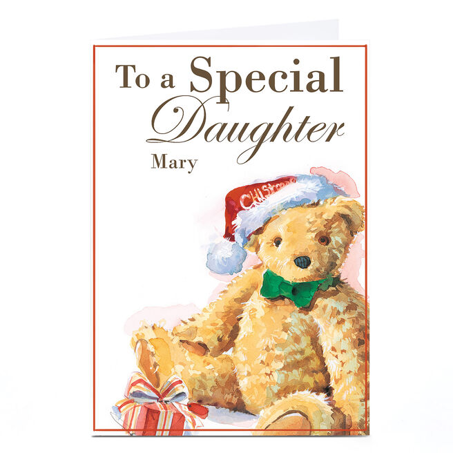 Personalised Christmas Card - Special Daughter Bear
