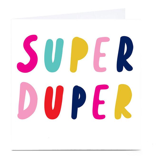 Personalised Hello Munki Card - Super Duper