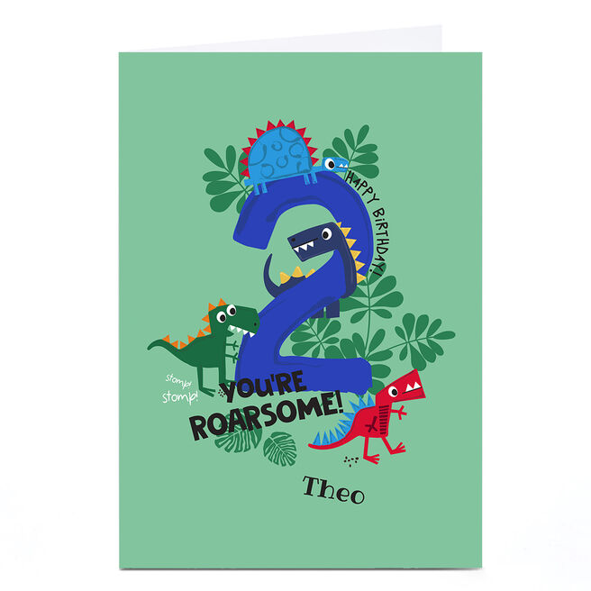 Personalised Rachel Griffin Birthday Card - 2, You're Roarsome!