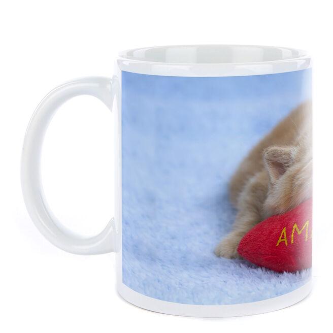 Personalised Sleeping Kitten Mug