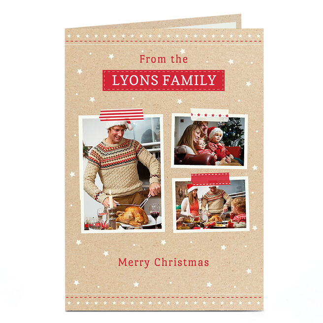 Photo Christmas Card - From Your Family