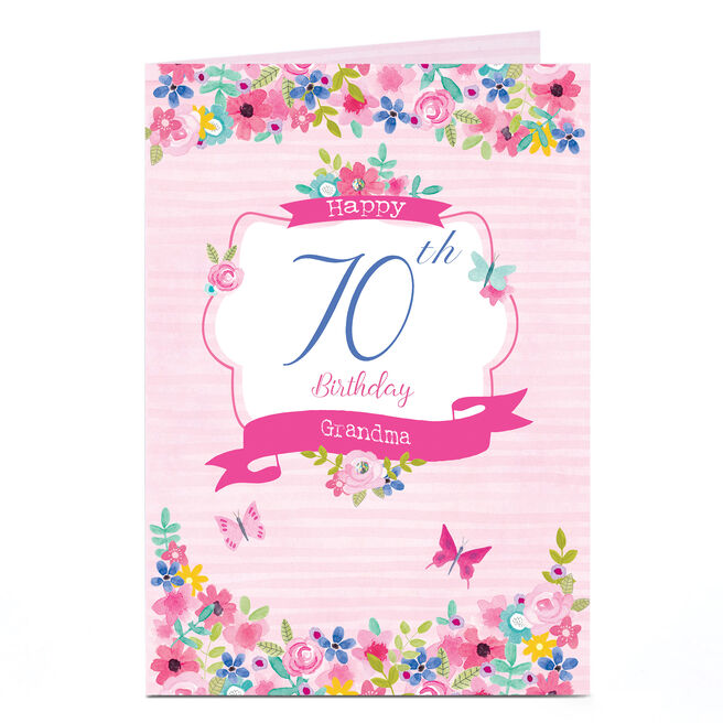 Personalised Any Age Birthday Card - Floral Grandma