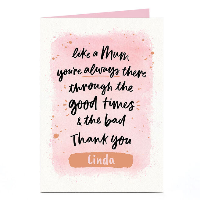 Personalised Mother's Day Card - Like A Mum