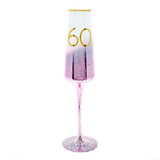 60th Birthday Champagne Flute - Happy Birthday To You