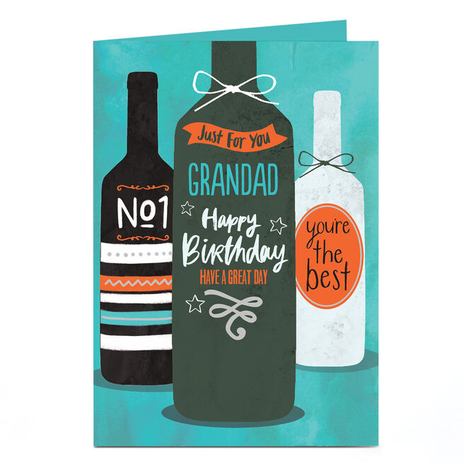 Personalised Birthday Card - Wine Bottles For You