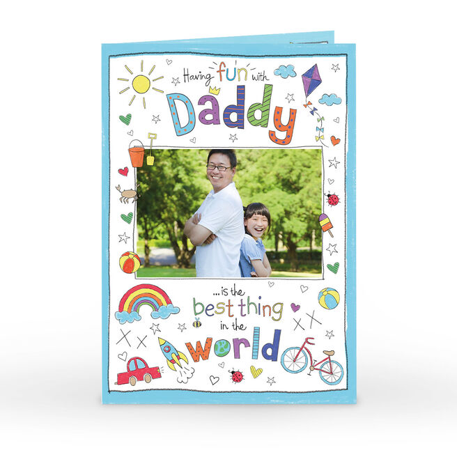Photo Father's Day Card - Fun With Daddy