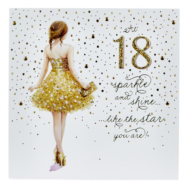 Platinum Collection 18th Birthday Card - Sparkle & Shine