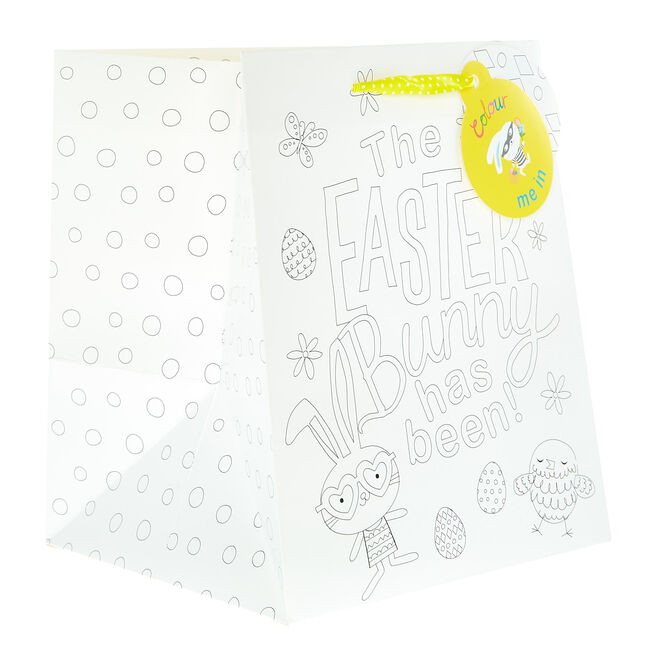 Small Portrait Colour-In Easter Gift Bag For Kids