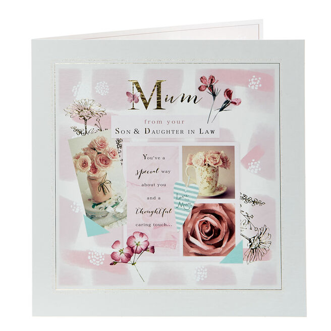 Platinum Collection Mother's Day Card - From Son & Daughter In Law