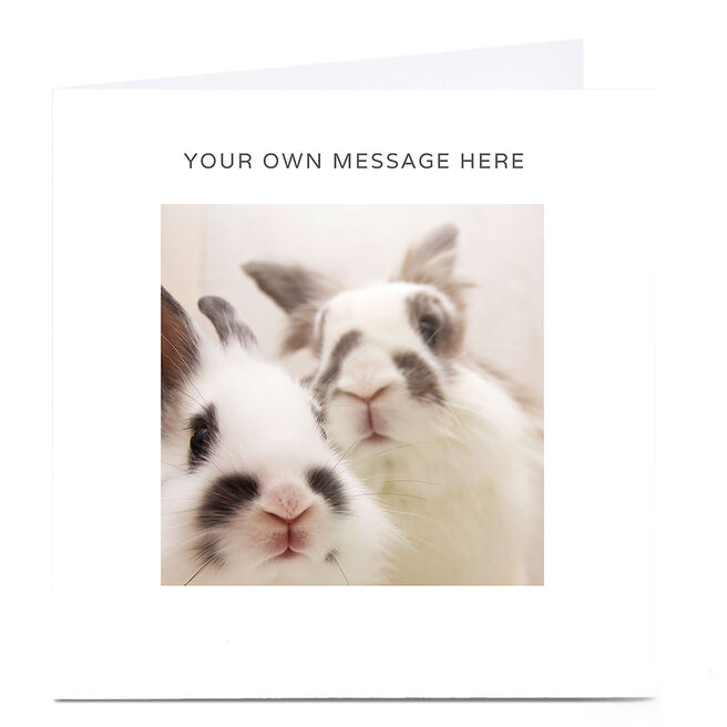 Personalised Card - Rabbits