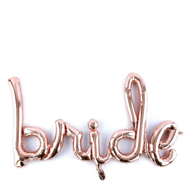 33-Inch Rose Gold Script Balloon - Bride