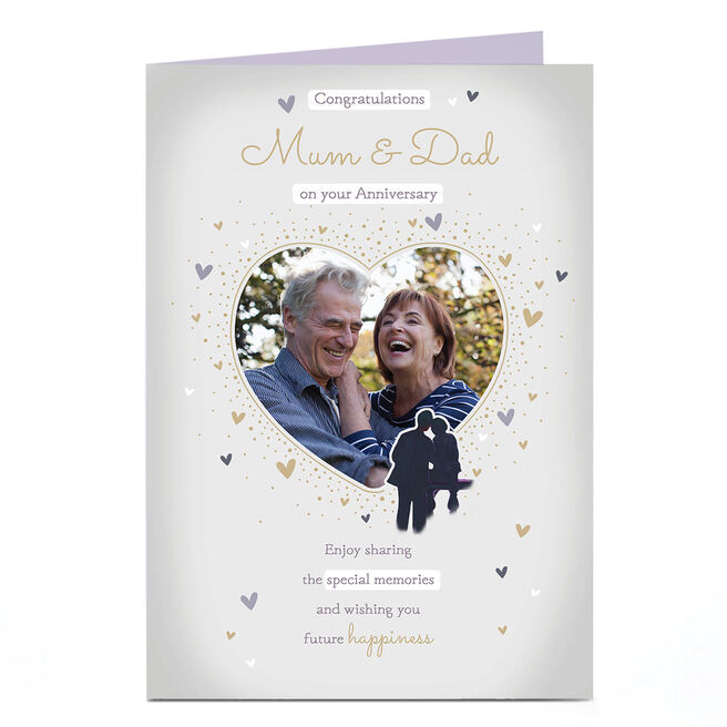 Personalised Anniversary Photo Card - Congratulations