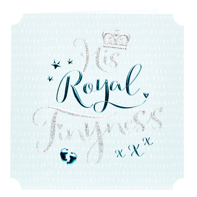 Platinum Collection New Baby Card - His Royal Tinyness