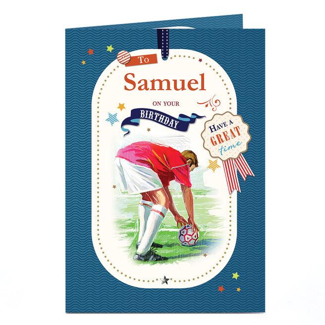 Personalised Birthday Card - Penalty Kick