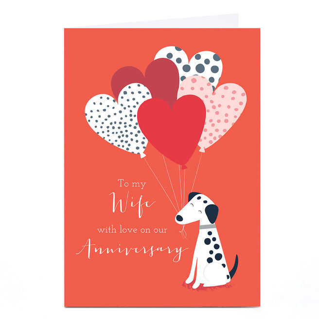Personalised Klara Hawkins Card - Heart Baloons
