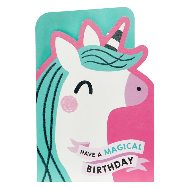 Birthday Card - Unicorn Magical Birthday