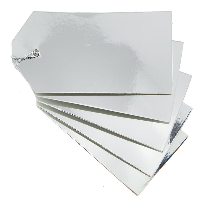 Silver Gift Tags - Pack Of 30