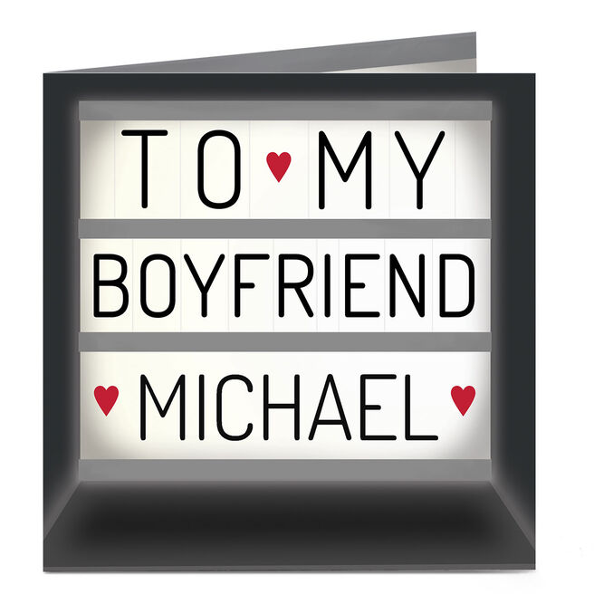 Personalised Card - Boyfriend Light Box