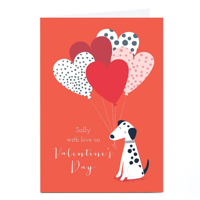Personalised Klara Hawkins Valentine's Day Card - Dalmatian
