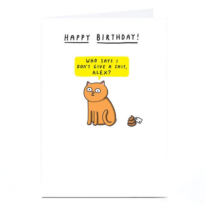 Personalised Mungo & Shoddy Birthday Card - Who Says