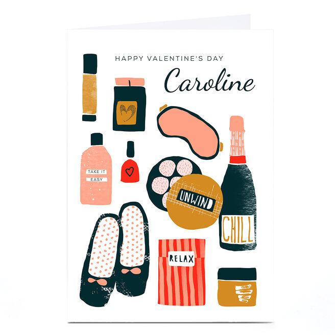 Personalised Rebecca Prinn Valentine's Day Card - Unwind