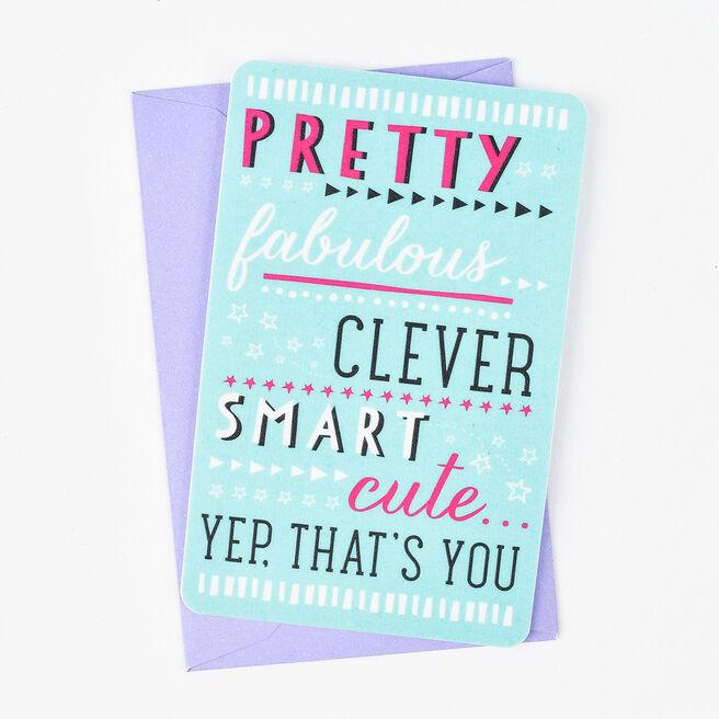 Keepsake Card - Pretty Fabulous