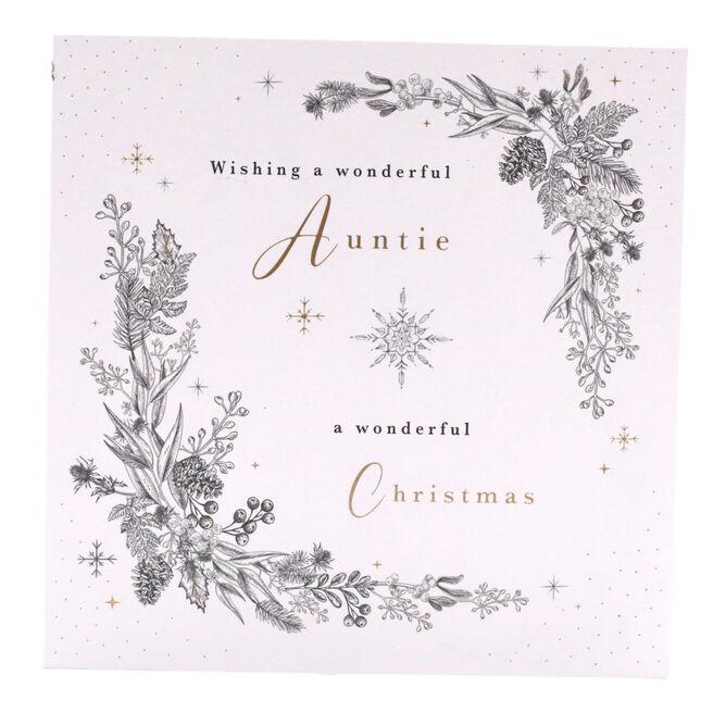 Christmas Card - A Wonderful Christmas For A Wonderful Auntie