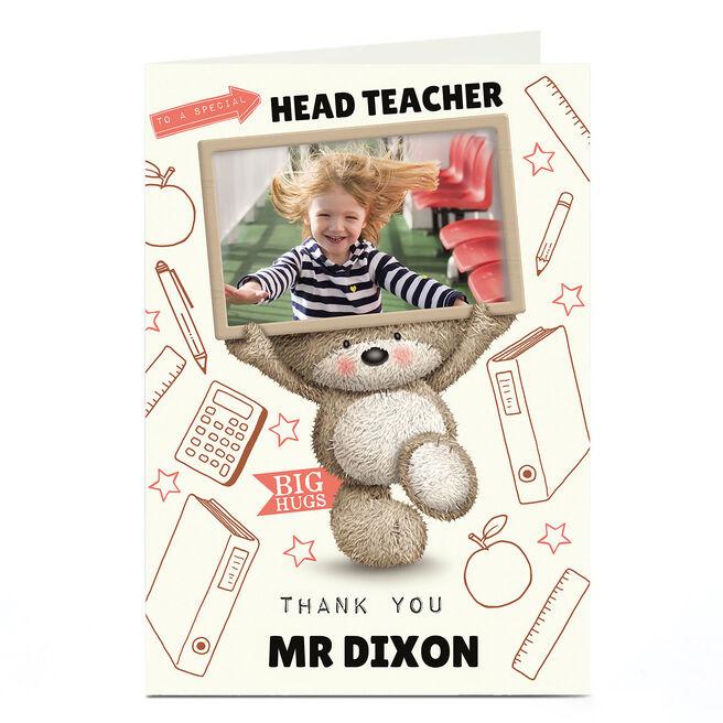 Hugs Photo Upload Thank You Teacher Card - Special Teacher
