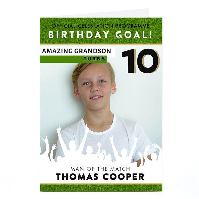 Photo Birthday Card - Football Programme