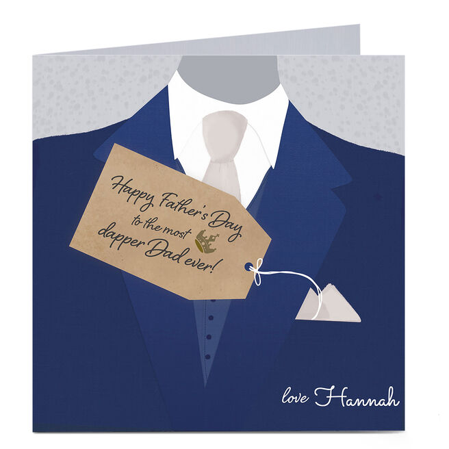 Personalised Father's Day Card - The Most Dapper Dad