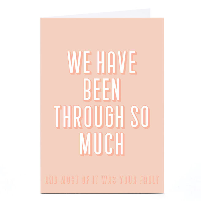 Personalised Phoebe Munger Card - Your Fault